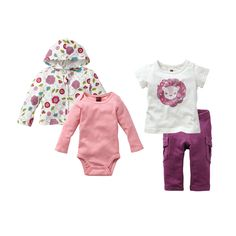 Kantha Lion Set baby girls clothing inspired by Indian patterns from us at Tea Collection.