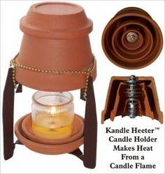 Candle powered heater...easy to make at home! Not exactly cooking, but it could provide heat