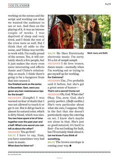 New Pics and Interview of Sam Heughan and Caitriona Balfe with EW Outlander Quotes, Outlander Tv Series, Starz Series, Sam Heughan Caitriona Balfe, Sam Heughan Outlander, Outlander Interviews, Popular Book Series, Jaime Fraser, Sam And Cait