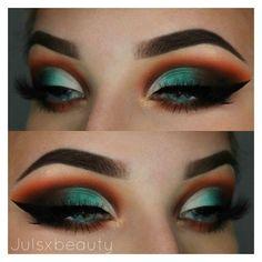 Can do this with Nubian 2 Makeup Is Life, Makeup Goals, Makeup Inspo, Makeup Inspiration, Makeup Tips, Teal Makeup, Lip Makeup, Beauty Makeup, Nude Makeup