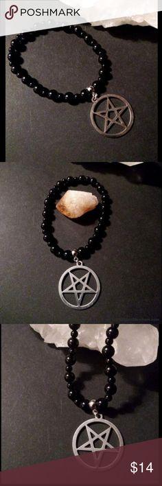 I just added this listing on Poshmark: Onyx Bead Stretch Bracelet Goth Satanic. Satanic Jewelry, Altars, Bracelet Designs, Black Onyx, Silver Beads, Stretch Bracelets, Jewelry Bracelets, Goth, Handmade Jewelry