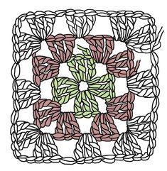 The Humble Granny Square – Renate Kirkpatrick's Freeform Crochet~Knit~Fibre Designs – Granny Square Motif Mandala Crochet, Crochet Motif Patterns, Crochet Blocks, Freeform Crochet, Crochet Stitches, Afghan Patterns, Motifs Granny Square, Granny Square Crochet Pattern, Crochet Squares