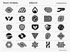 Brand / Art Marks - Edition 01 by Gert van Duinen on Dribbble Inspiration Logo Design, Typography Inspiration, Typography Logo, Graphic Design Typography, Lettering, Brand Identity Design, Branding Design, Branding Agency, Logo Branding
