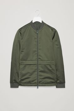 COS image 10 of Bomber jacket with pockets  in Khaki green