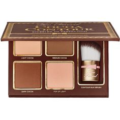 Too Faced Cocoa Contour Chiseled to Perfection (260 DKK) ❤ liked on Polyvore featuring beauty products, makeup, face makeup, beauty, contour, cosmetics, faces, filler, highlight makeup and paraben free cosmetics