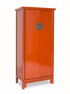 Mueble chino armario rojo rub 4 puertas muebles chinos for Muebles chinos online