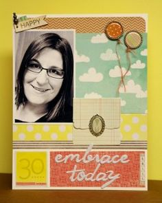 Layout made with the #epiphanycrafts Shape Studio Tool Round 25 and Metal Charms available at #MichaelsStores www.epiphanycrafts.com #scrapbook