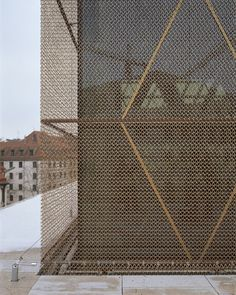 Jewish Center in Munich - copper mesh/detail