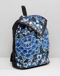 24ba73bfb5034 Reclaimed Vintage Embroidered Floral Backpack at asos.com