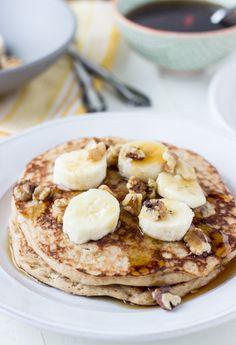 Dairy Free Whole Wheat Banana Walnut Pancakes #SpoonfulOfSilk #spon