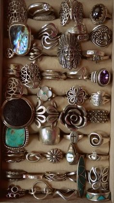 bohemian silver rings