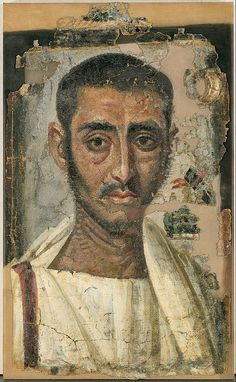 (c. 225-250 CE) Funeral Portrait of a Man