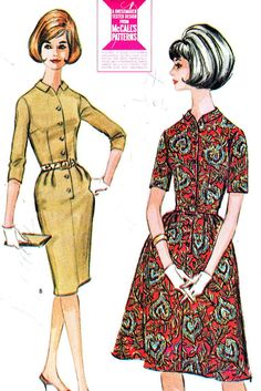 1960s Dress Pattern McCalls 6911 Full or Sheath by paneenjerez, $10.00