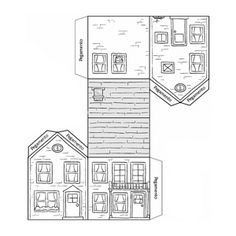 Casas recortables para niños ® Manualidades de papel infantiles