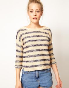 slubby stripe sweater