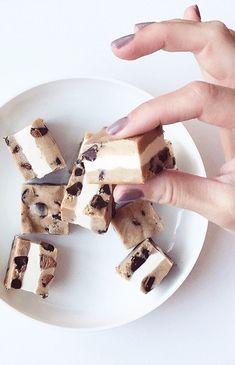 Cookie dough ice cream sandwich bites, oh my!