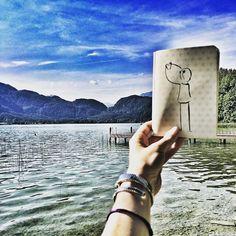 Beautiful Austria! . #Mondsee #Austria  #doodleaday #todaysdoodle #doodleinspiration  #doodleart #instaart #sketchnotes  #visualnotes #makethingsvisual #vizualisation #drawingaday #drawingoftheday  #trustedblogs #blogger #sketchnotesbydiana #germanbujojunkies