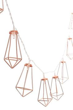 Rose Gold Geometric Boho Lights Rose Gold Room Decor, Gold Nursery Decor, Rose Gold Theme, Rose Gold Rooms, Dorm Room Themes, Bedroom Themes, Bedroom Ideas, Cool Teen Rooms, Teen Girl Rooms