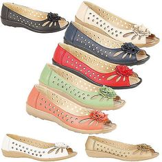 NEW BOULEVARD LADIES GIRLS PUNCHED OPEN TOE COMFORT SUMMER CASUAL SANDALS SHOES in Clothes, Shoes & Accessories, Women's Shoes, Flats | eBay Women's Shoes, Shoe Boots, Tolu, Leather Design, Open Toe, Fashion Shoes, Footwear, Stylish, Lady