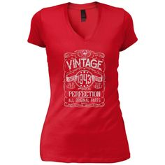 Vintage Aged To Perfection 1943 - 75th Birthday Gift T-shirt