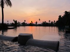 Lovely sunset from the pool