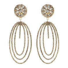 Beatrice is an old royal name. Our Beatrice earring's design, with Austrian crystals set in a base metal, is treated for an Old World look. This earring displays Old World extravagance but is still perfect for a modern, fashion forward woman.