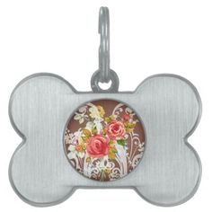 Deals Rose Bouquet Flower Vintage Pattern Pet Tag lowest price for you. In addition you can compare price with another store and read helpful reviews. Buy