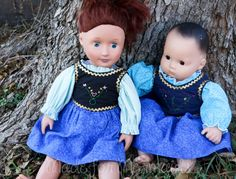 Anna Frozen DOLLY Dress 15 or 18 doll PDF by madeformermaids, $4.00