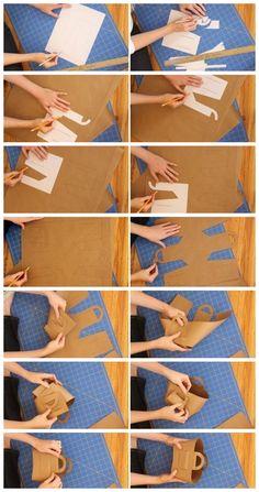 Como hacer una bolsa de papel paso a paso