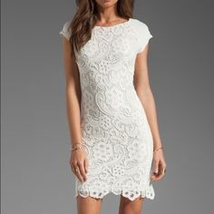 Rebecca Taylor lace dress White lace dress with cap sleeves. Zipper in back. White stretch underlay. Never been worn! New condition. Willing to negotiate within reason! Rebecca Taylor Dresses Midi