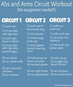 circuit training at home routine no equipment - Google Search