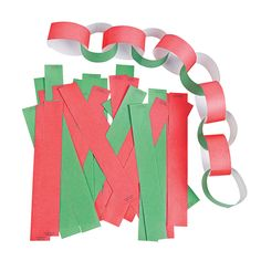 Red & Green Christmas Tree Chains - OrientalTrading.com All we need is ...
