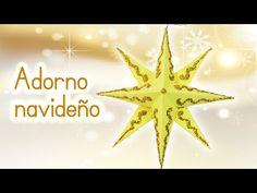 Manualidades para Navidad: ADORNO NAVIDEÑO Estrella 3D de papel - Innova Manualidades - YouTube