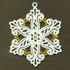FSL Snowflake 9, 8 - 4x4 | FSL - Freestanding Lace | Machine Embroidery Designs | SWAKembroidery.com Ace Points Embroidery