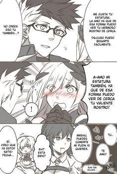 Post with 4939 views. Sig, Bryn, and Height Difference by Cartoon As Anime, Anime Comics, Anime Art, Fate Stay Night Anime, Cute Anime Coupes, Gamer Humor, Comics Story, Fate Anime Series, Comic Pictures