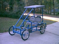 Florida maker Daniel Fleischman designs and builds pedal-powered vehicles using PVC tubing for his company American Speedster. On his site you'll find plans and component kits available for a small fee. Pedal-powered vehicles are becoming increasingly popular. Some folks are even hot-rodding them with electric conversions.