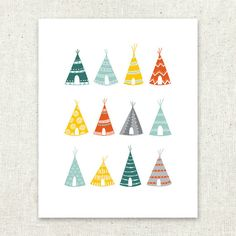 Art Print Tepees by SableandSnow on Etsy