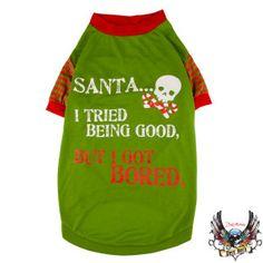 Keno needs this: Bret Michaels Pets Rock™ PetHoliday™ Santa Tee - PetSmart