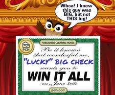 pch prize patrol with a big check champagne and balloons - PIPicStats Instant Win Sweepstakes, Online Sweepstakes, Win For Life, Lottery Winner, Lottery Tickets, Winner Announcement, Congratulations To You, Publisher Clearing House, Winning Numbers