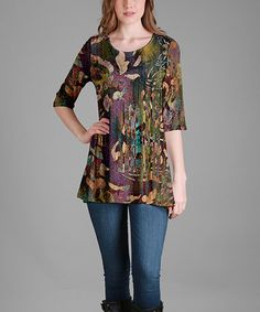 2c4ab64863a Lily Green   Purple Tunic - Plus Too
