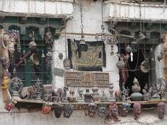 crafts displayed at the Bazaar, Leh