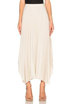 Image 1 of Helmut Lang Pleated Skirt in Oyster