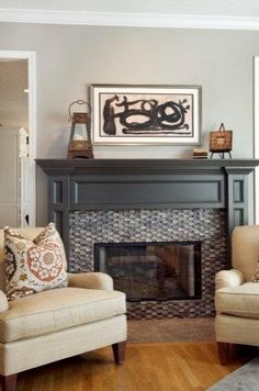 by Kathleen Ramsey, Allied ASID A color like Sherwin-Williams' Otter adds warmth in a large room. Small tiles used in the fireplace make the surround pop, and rooms with vaulted ceilings feel cozier.