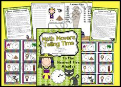 Math Movers Game Telling Time to Five Minutes Whole Class Game! product from WorkaholicNBCT on TeachersNotebook.com