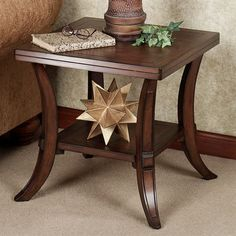 The Hancock Square End Table has a transitional design that features both contemporary simplicity and classic appeal. Finished in regal walnut, this wooden. Centre Table Living Room, Dinning Room Tables, Center Table, Living Room Chairs, Living Room Furniture, Wood Tables, Coffee Table With Shelf, Coffee And End Tables, Side Tables