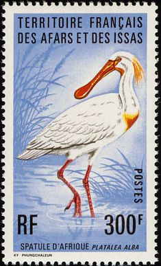 African Spoonbill stamps - mainly images - gallery format