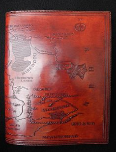 Lord of the Rings 'Map of MiddleEarth' handmade by DiaryShop $36