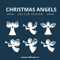 More than a million free vectors, PSD, photos and free icons. Exclusive freebies and all graphic resources that you need for your projects Engel Silhouette, Angel Vector, Angeles, Angelic Pretty, Christmas Angels, Vector Design, Paper Cutting, Vector Free, Place Card Holders