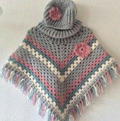 23 Beste Afbeeldingen Van Haken Kids Poncho Crochet Poncho