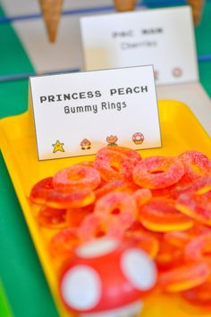 Princess Peaches Gummy Rings from a Inspired Video Game Birthday Party via Kara's Party Ideas KarasPartyIdeas.com (32)